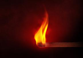 Igniting matchstick